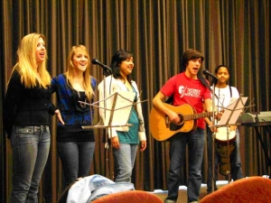 Students of Wendy Silk perform an original song