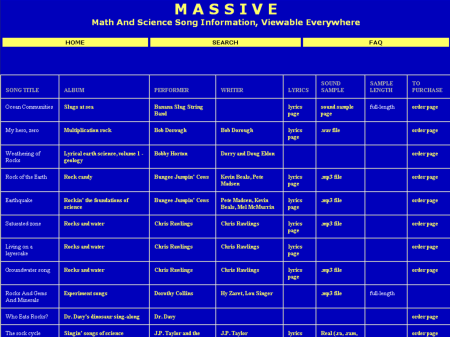 MASSIVE search results page, circa 2004